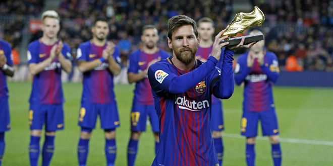 Barcelona, Lionel Messi, Golden Boot 2018