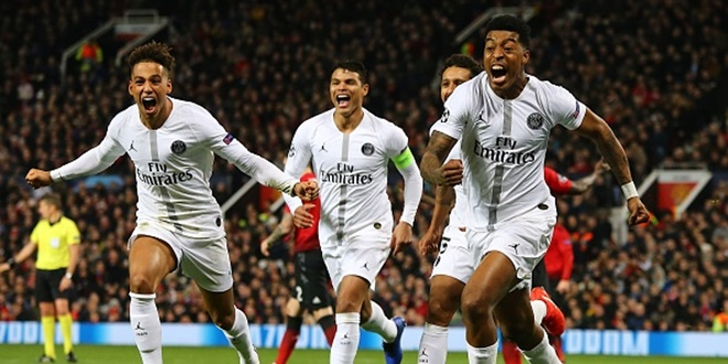 Paris Saint Germain, Liga Champions, Manchester United