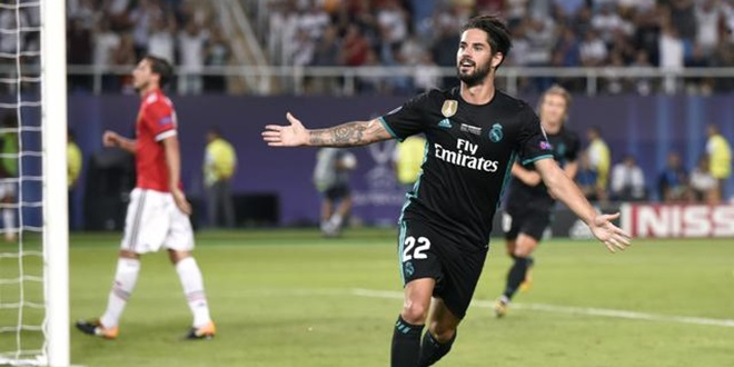 Real Madrid, Isco Alarcon, Manchester United